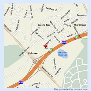 Map to Dr Heitt's office